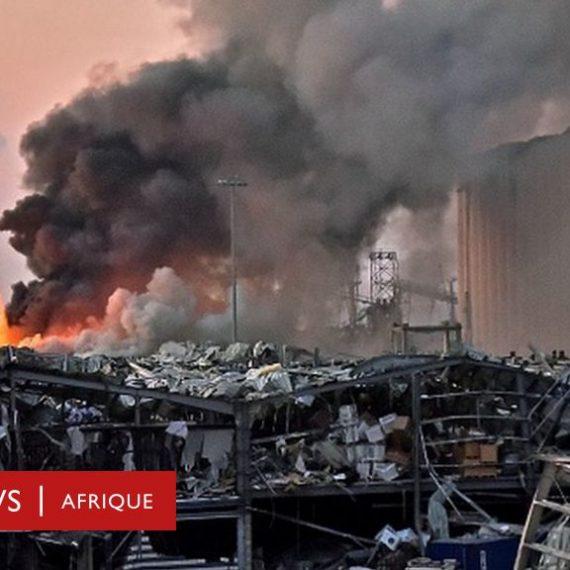Un gigantesque incendie au port de Beyrouth quelques semaines après l'explosion